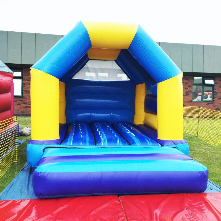Yellow & Blue Bouncy castle